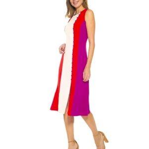 Colorblock slit midi dress. NWT size S & M